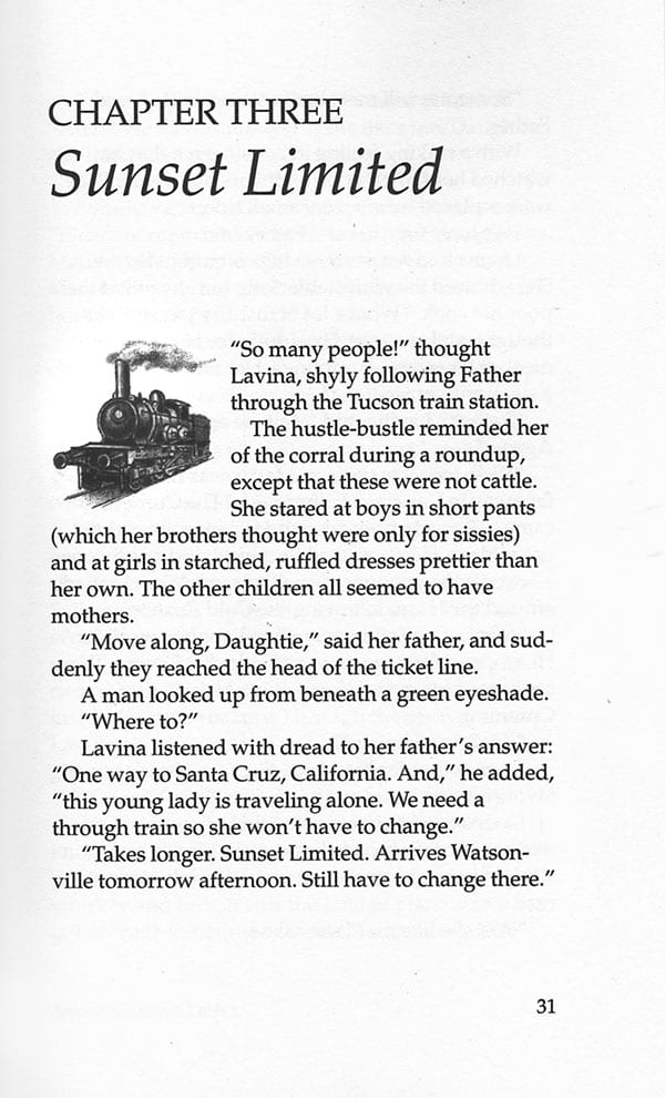 Lavina Cummings chapter 3 page showing spot illustration