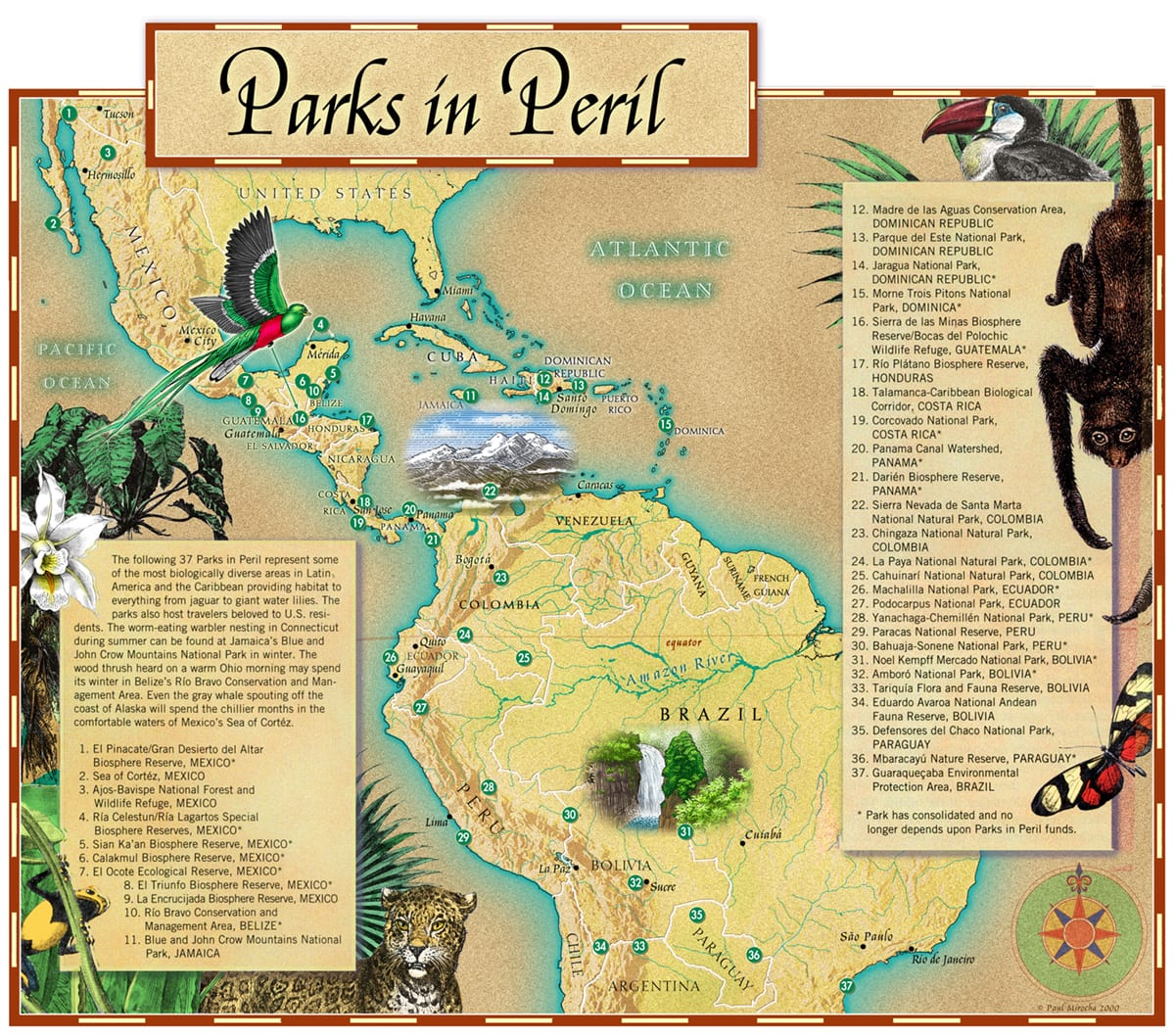 Parks in Peril Map for The Nature Conservancy