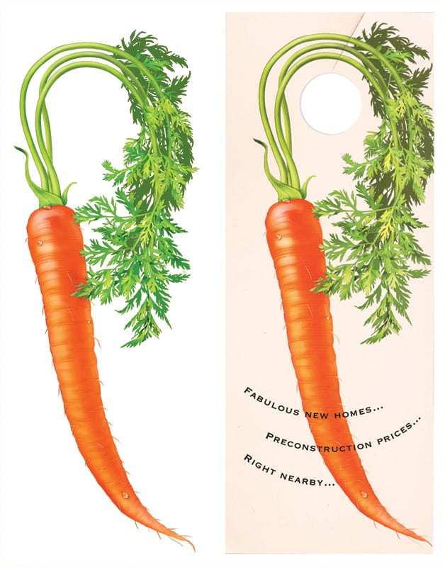 Carrot on a door knob
