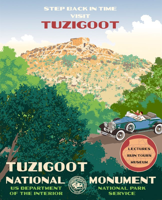 Tuzigoot Visitor's Center exhibit