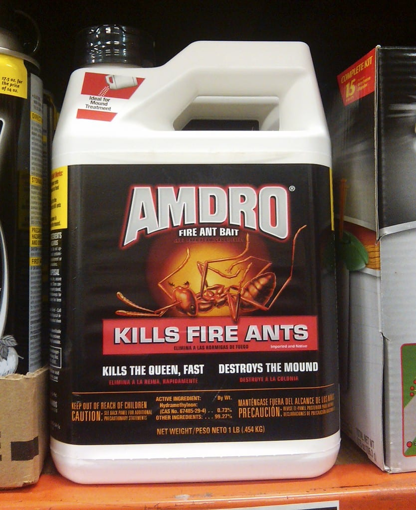 The new Amdro design on the shelf at Home Depot