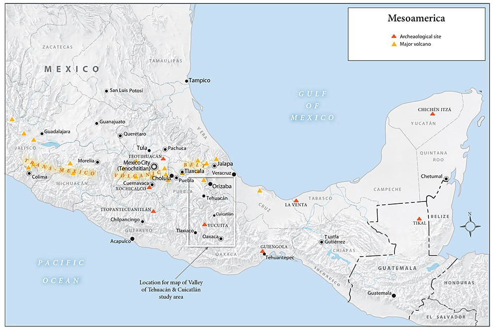 Mezoamerica map