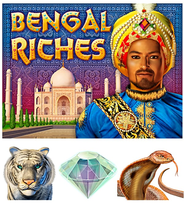 title panel illustration for bengal riches video game