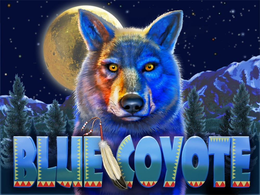 Title panel illustration for video game, Blue Coyote