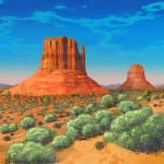Illustration of Northern Arizona Buttes and landscape