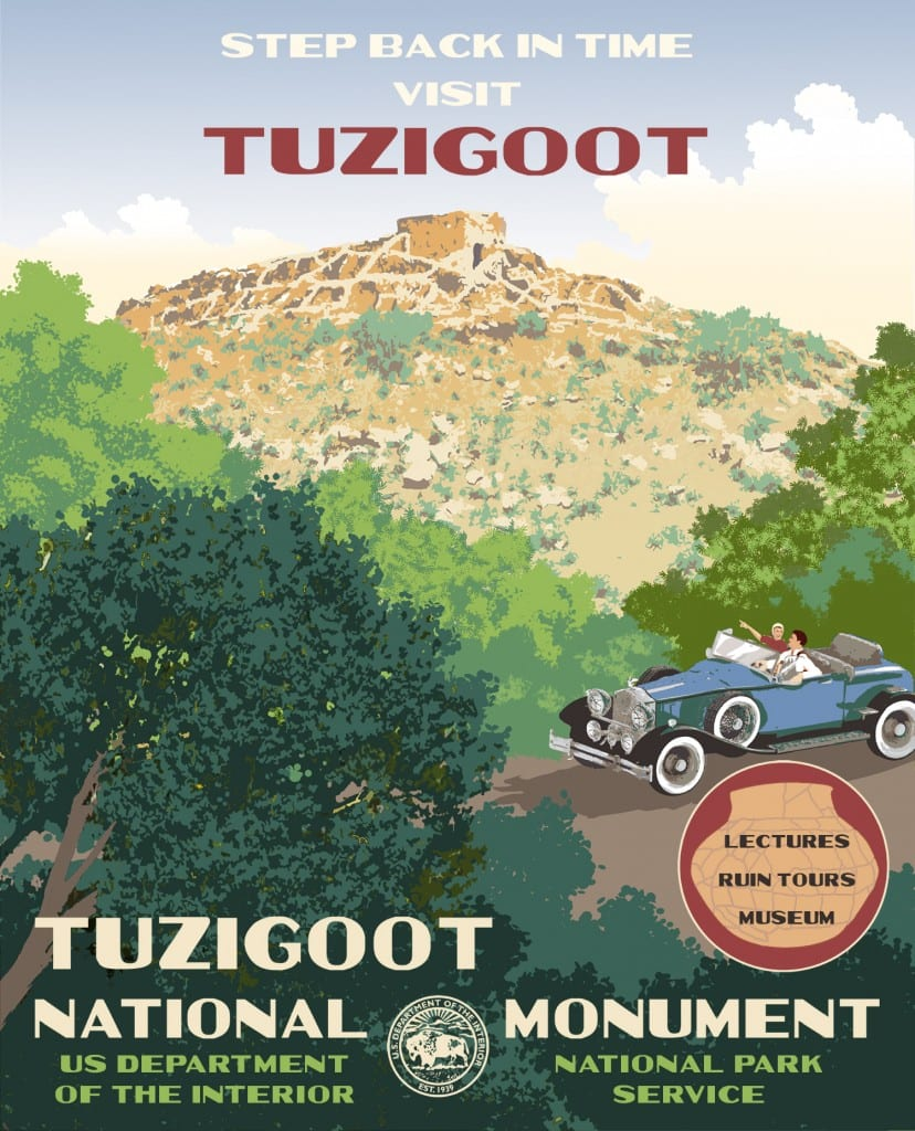 poster design for Tuzigoot National Monument