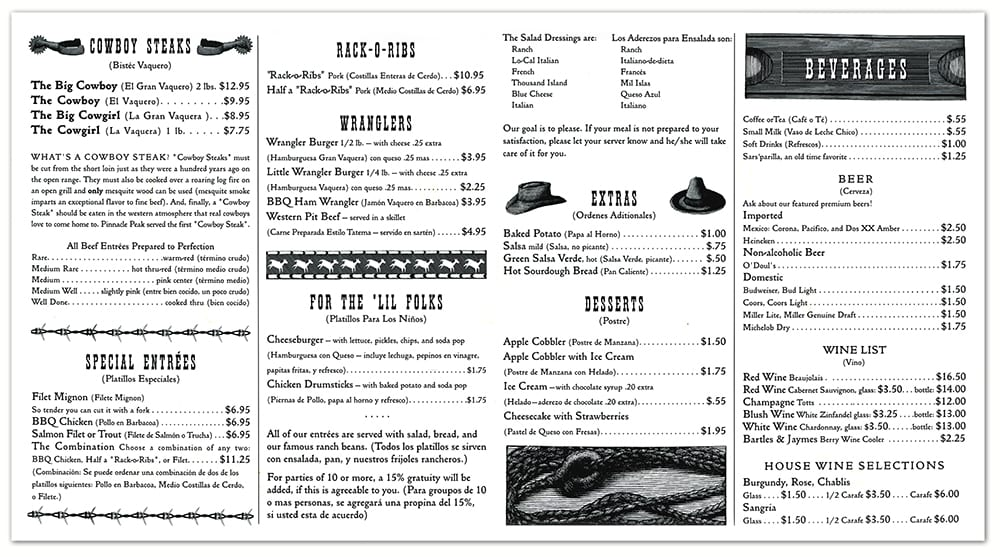 menu- inside spread