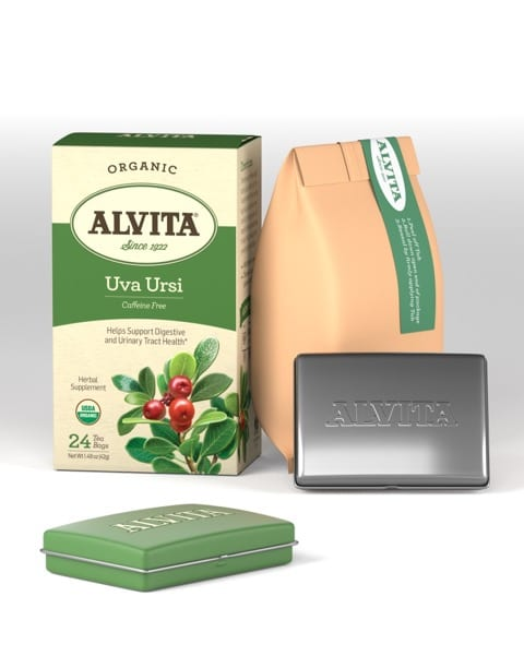 Alvita Herbal Tea package, Uva Ursi,