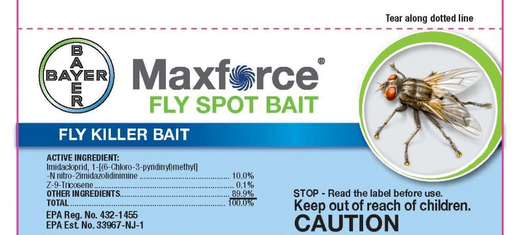 New Bayer package label featuring Paul's new fly.