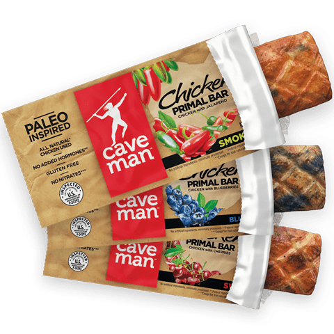 Chicken Primal Bars package, illustrated by Paul Mirocha
