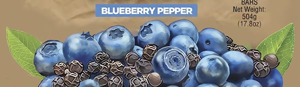 blueberry illustration fro chicken primal bars