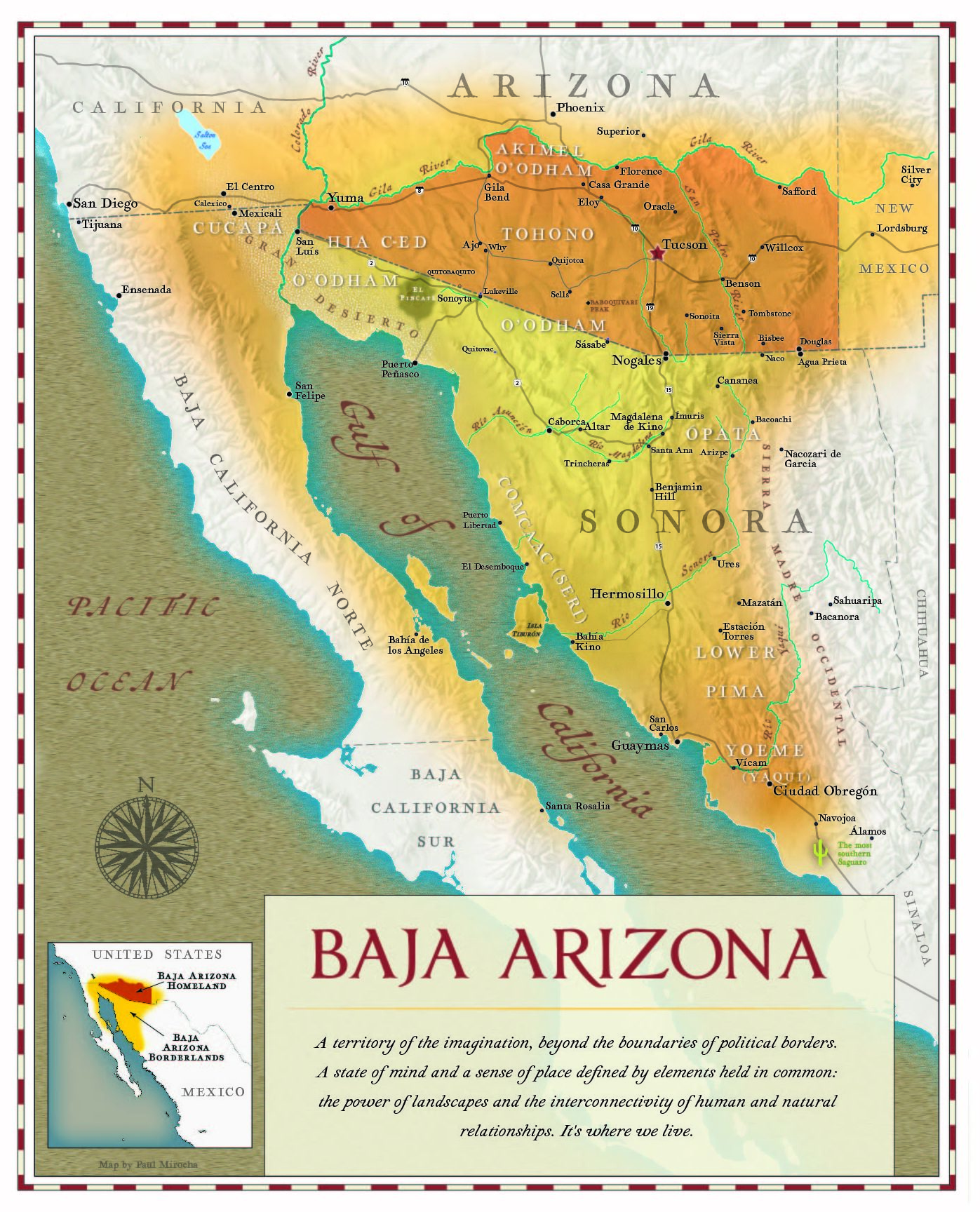 Baja Arizona Map