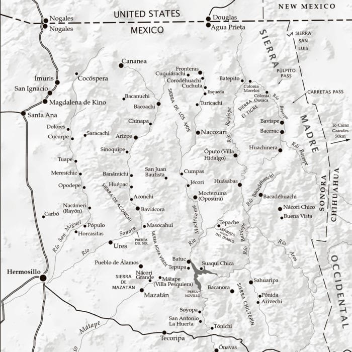 Map of the Opata Country