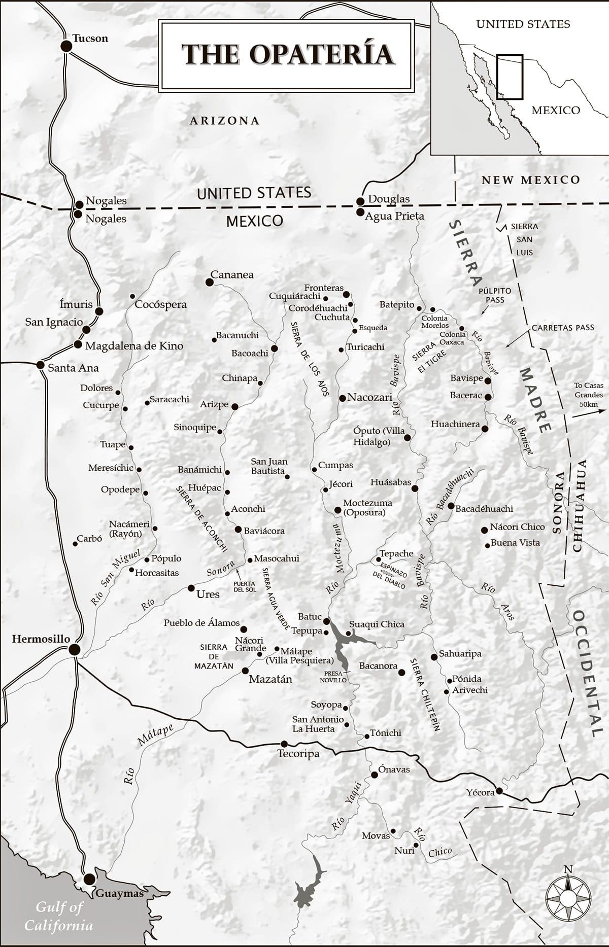 Map of the Opatería